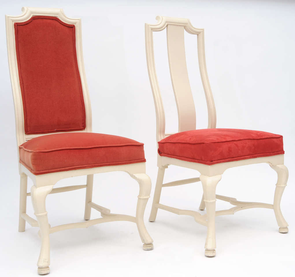 Queen anne dining chairs at 1stdibs for Dining room chairs queen anne