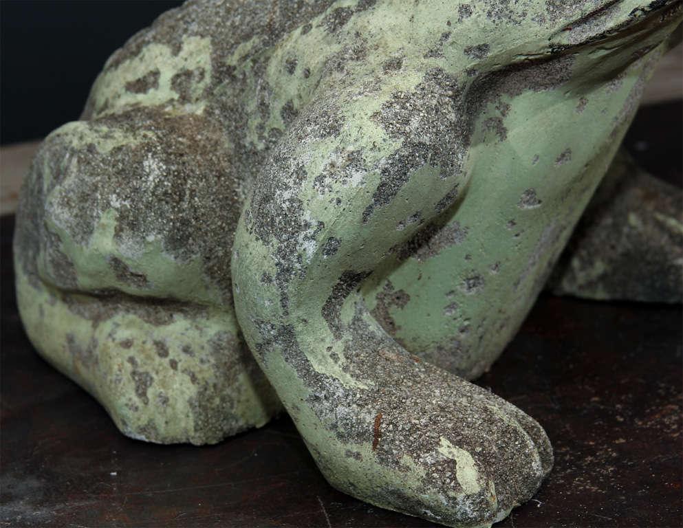 Pair Of Jumbo Concrete Garden Frogs At 1stdibs