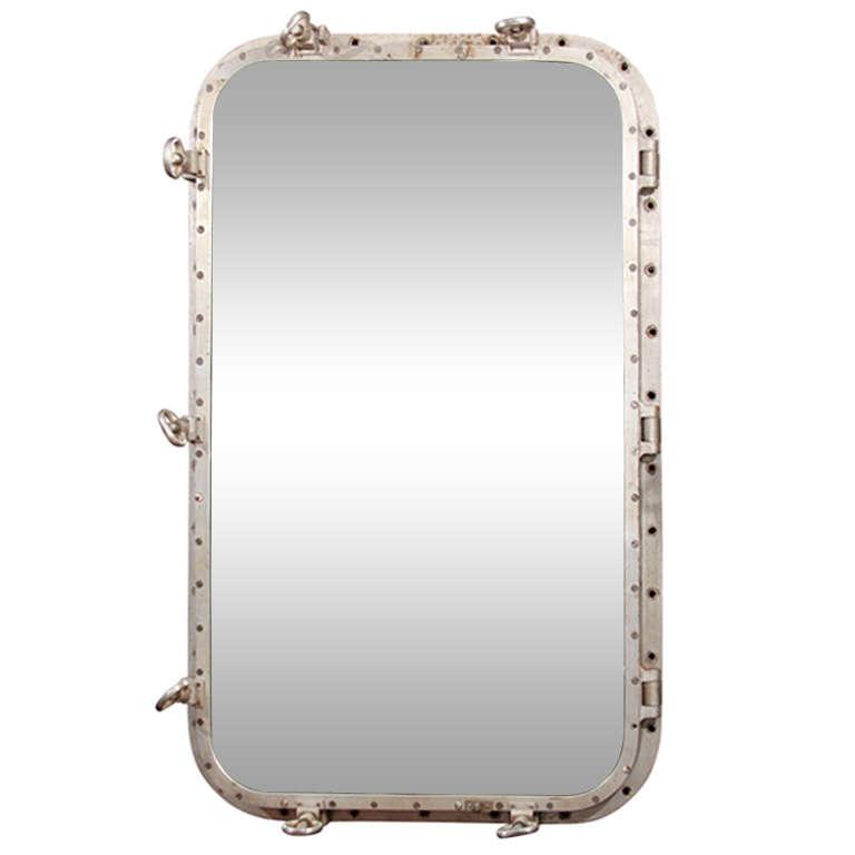 Large ship door mirror at 1stdibs for Big door mirror