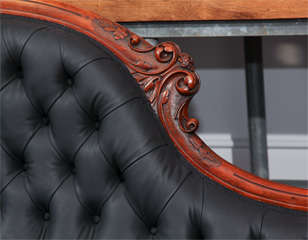 Carved Fancy Sofa in Rubber image 4