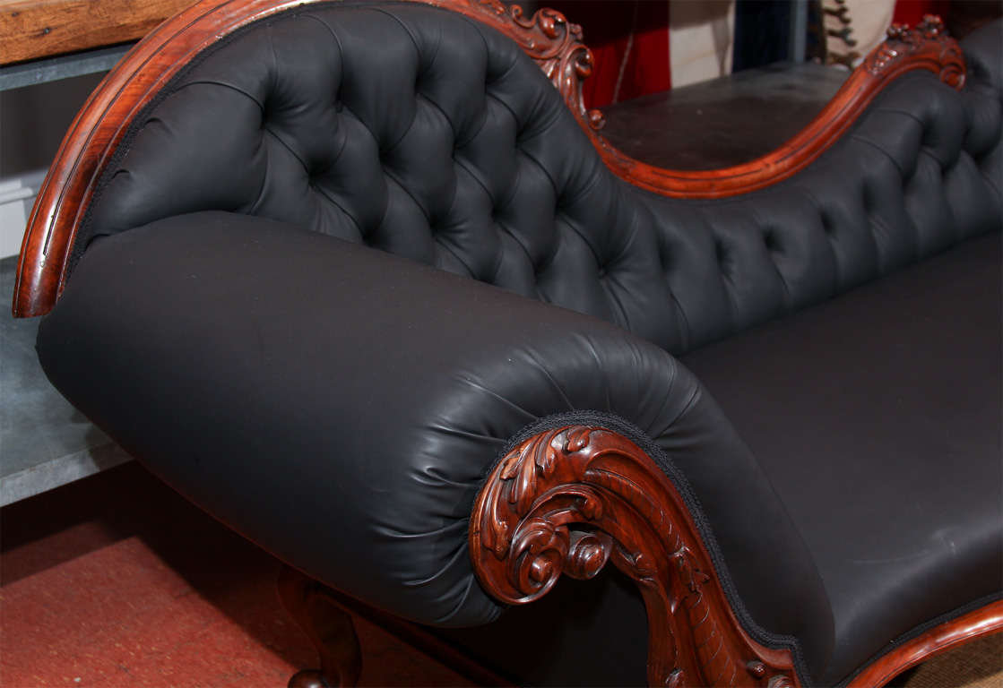 Carved Fancy Sofa in Rubber 8