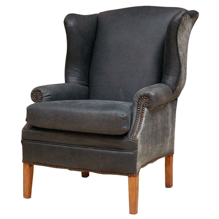 1960s Missoni Wingback Chair At 1stdibs: 1960's Leather Kittinger Wingback Chair At 1stdibs