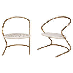 Pair of Indoor/Outdoor Rope Chairs