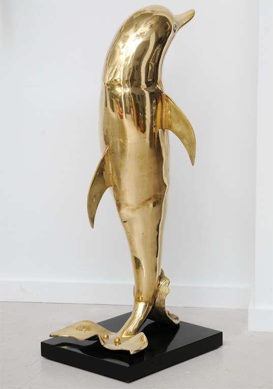 Brass Dolphin Sculpture 4