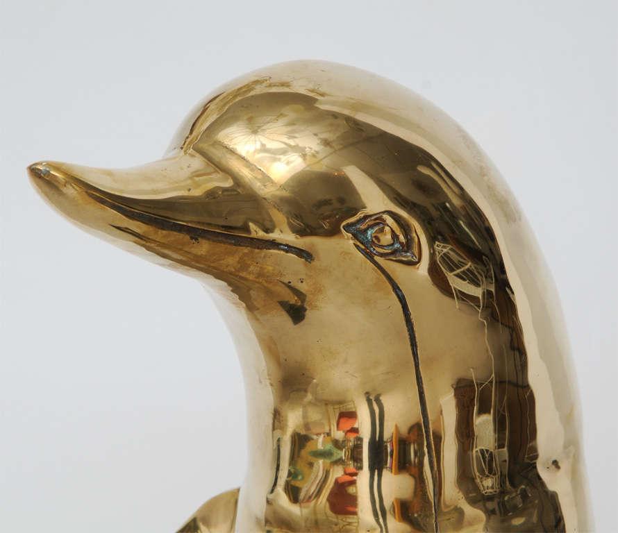 Brass Dolphin Sculpture 7