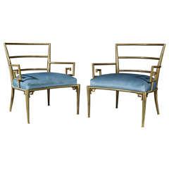 Mastercraft Greek Key Lounge Chairs