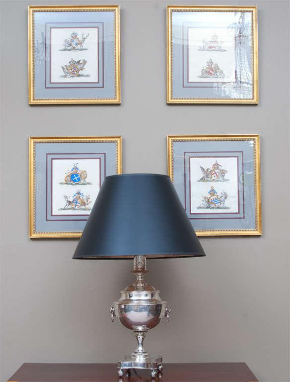 Regency Style Sheffield Silver Plate Lamp 2