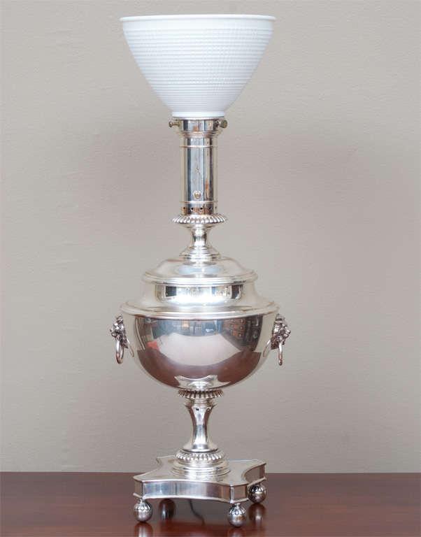 Regency Style Sheffield Silver Plate Lamp image 3