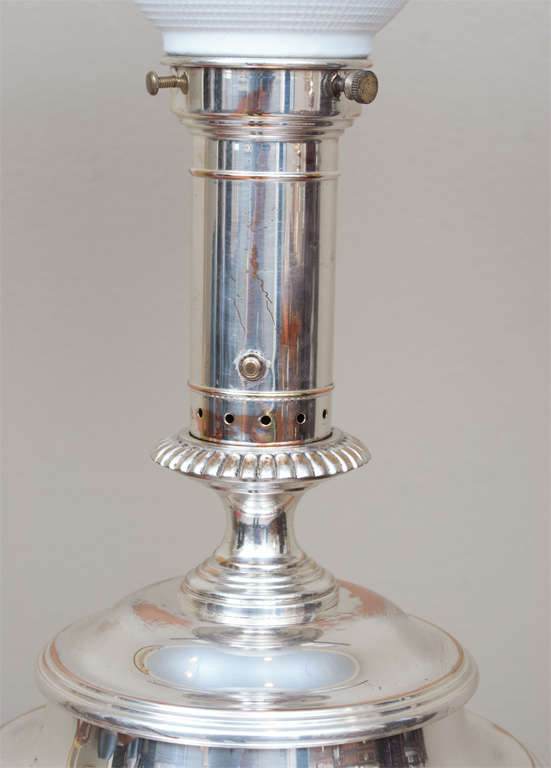 Regency Style Sheffield Silver Plate Lamp 5