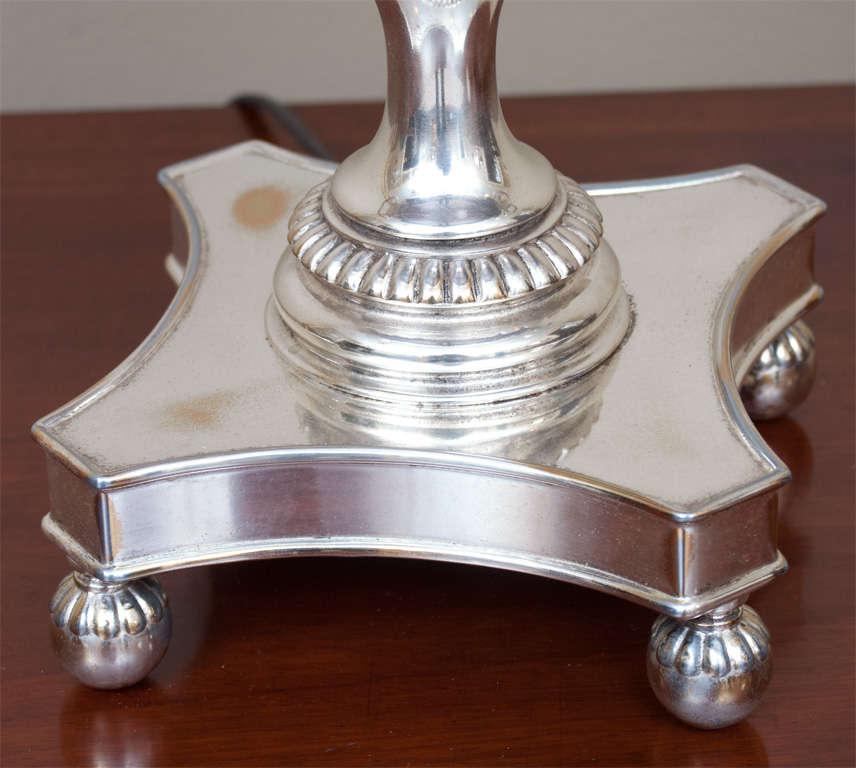 Regency Style Sheffield Silver Plate Lamp image 7