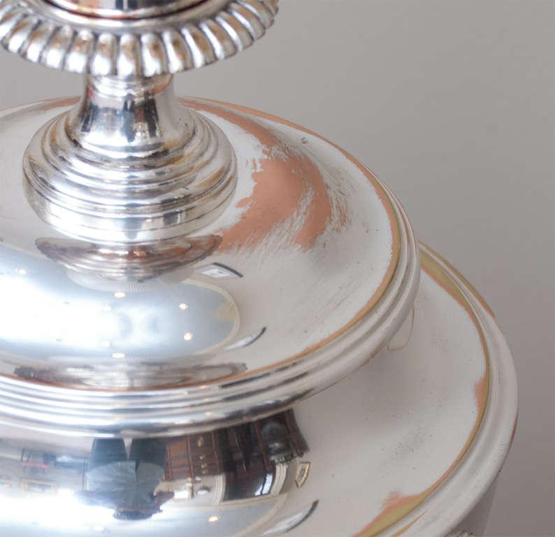 Regency Style Sheffield Silver Plate Lamp 8