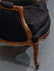 French Chair In Black Linen image 4