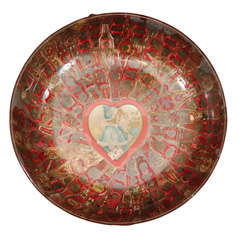 'To My Best Love' Cigar Band Folk Art Bowl