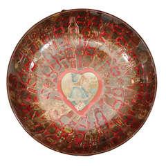 'To My Best Love' Cigar Band Folk Art Bowl
