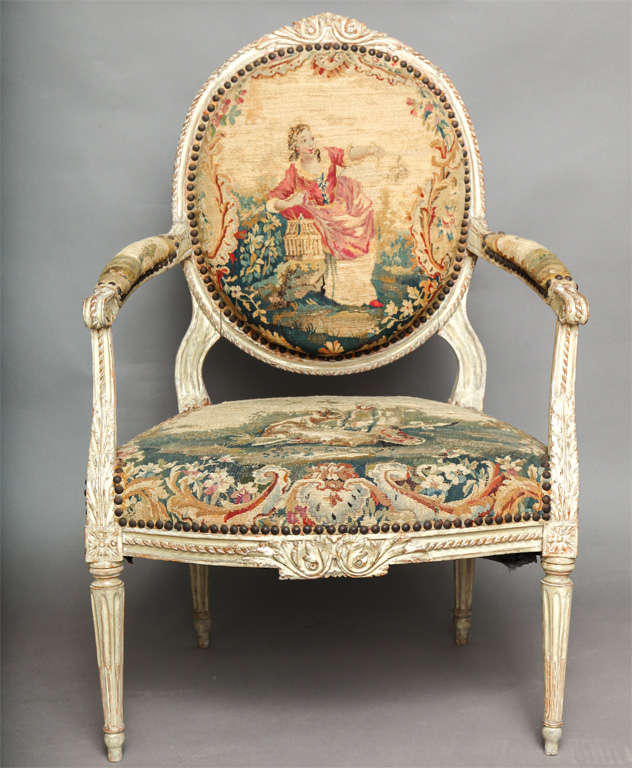Pair of 18th Century Louis XVI Chairs 3