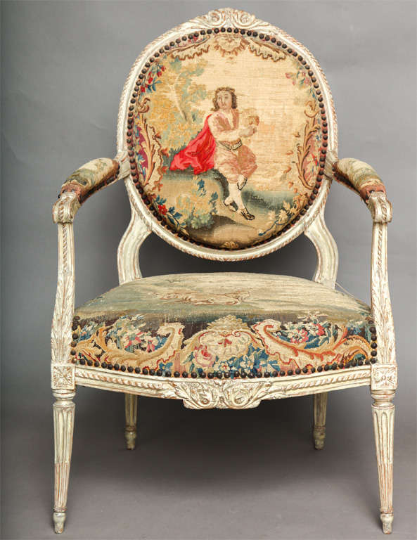 Pair of 18th Century Louis XVI Chairs 4