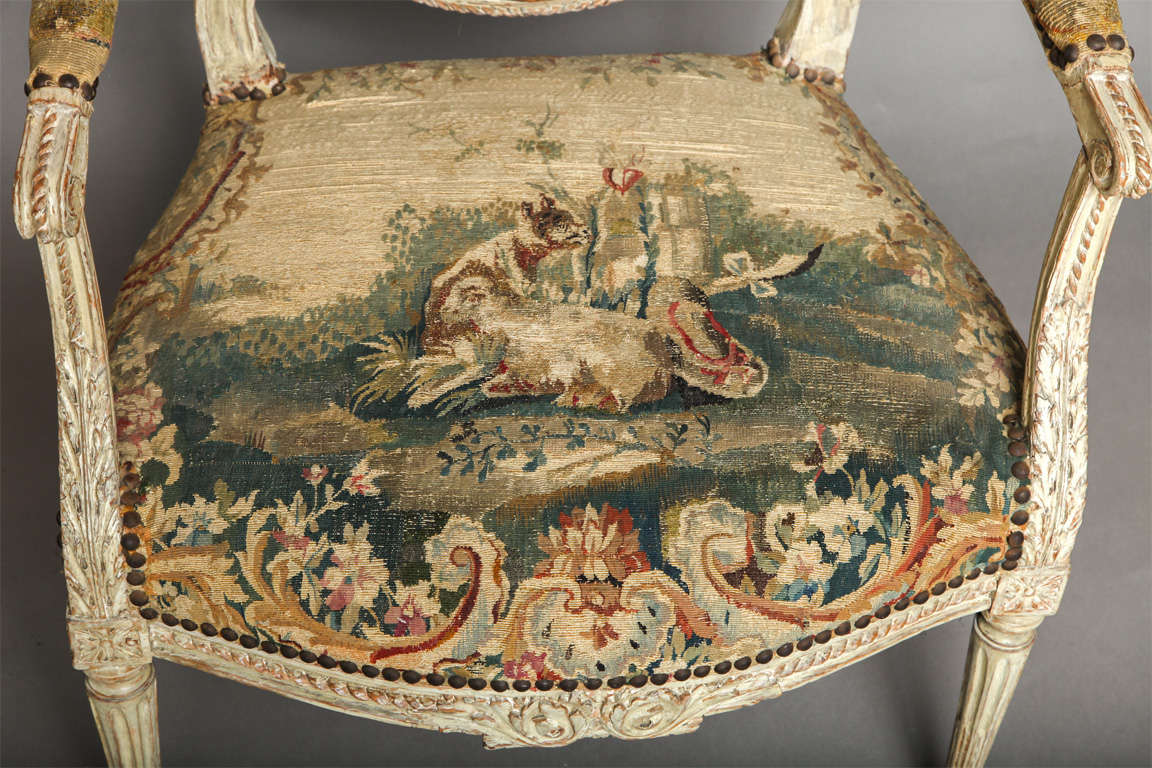 Pair of 18th Century Louis XVI Chairs 7