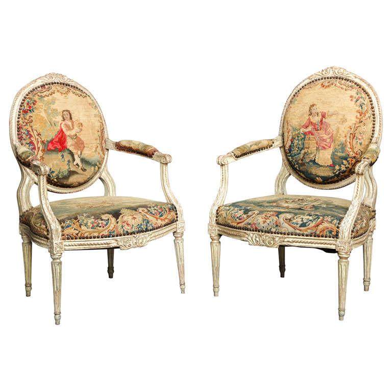 Pair of 18th Century Louis XVI Chairs 1