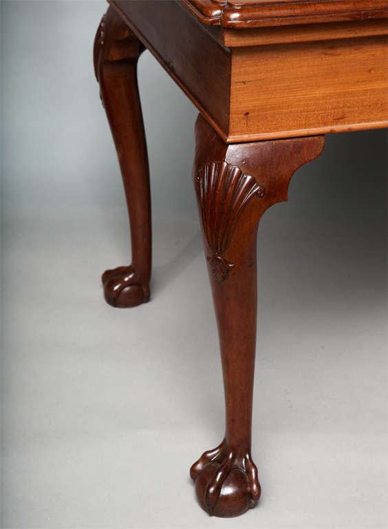 English George II Mahogany Center Table For Sale
