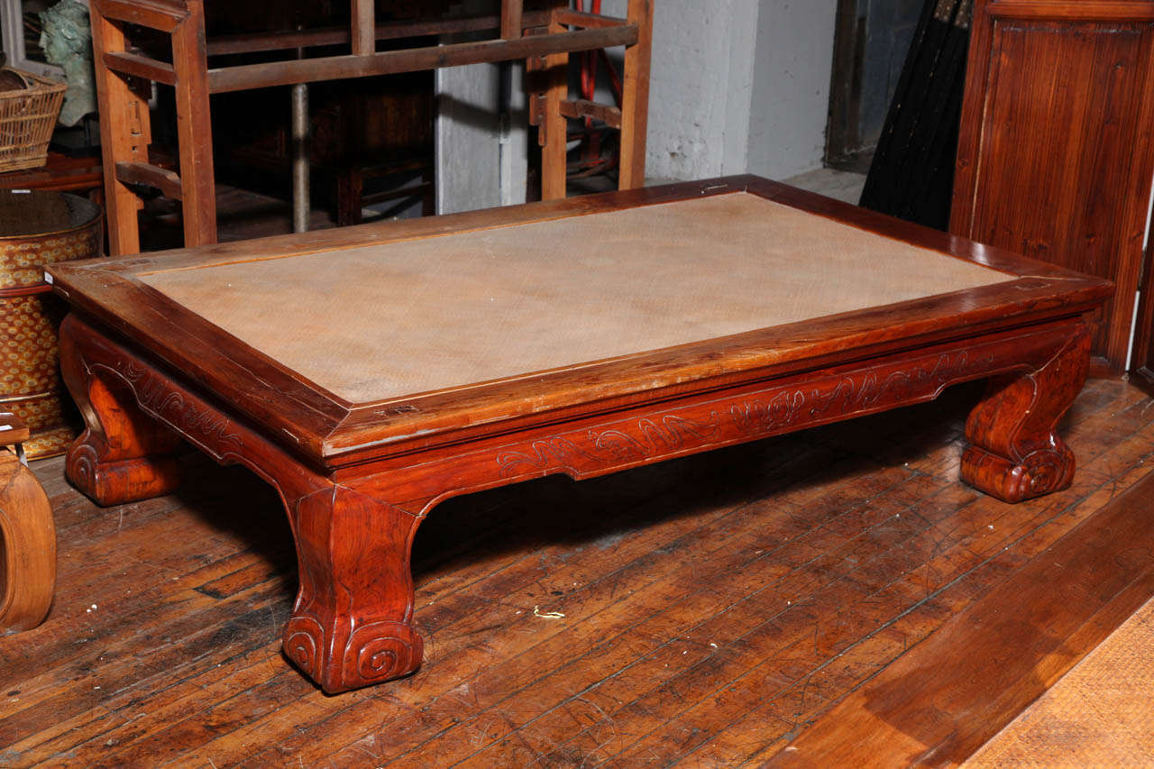 Superb Low Opium Mat Coffee Table With Woven Cane Top From China 19Th Century Andrewgaddart Wooden Chair Designs For Living Room Andrewgaddartcom