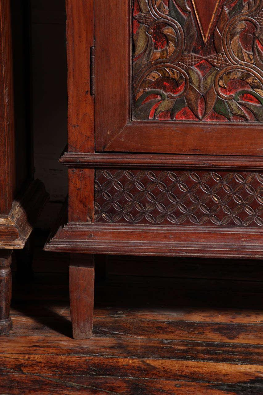 Antique Bed: Antique Carved Teak Java Cabinet For Sale At 1stdibs