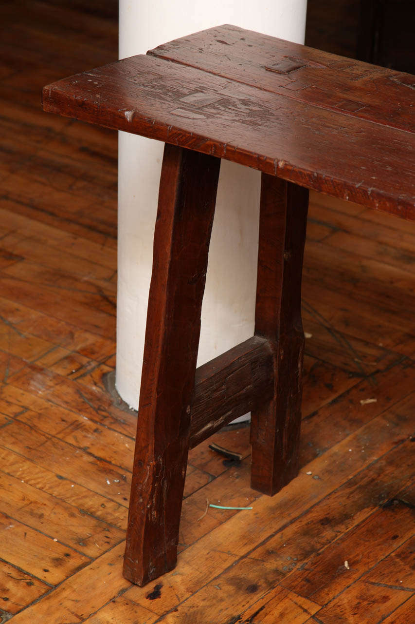 Rustic Long And Narrow Javanese Wooden Table From The 19th Century For Sale  6