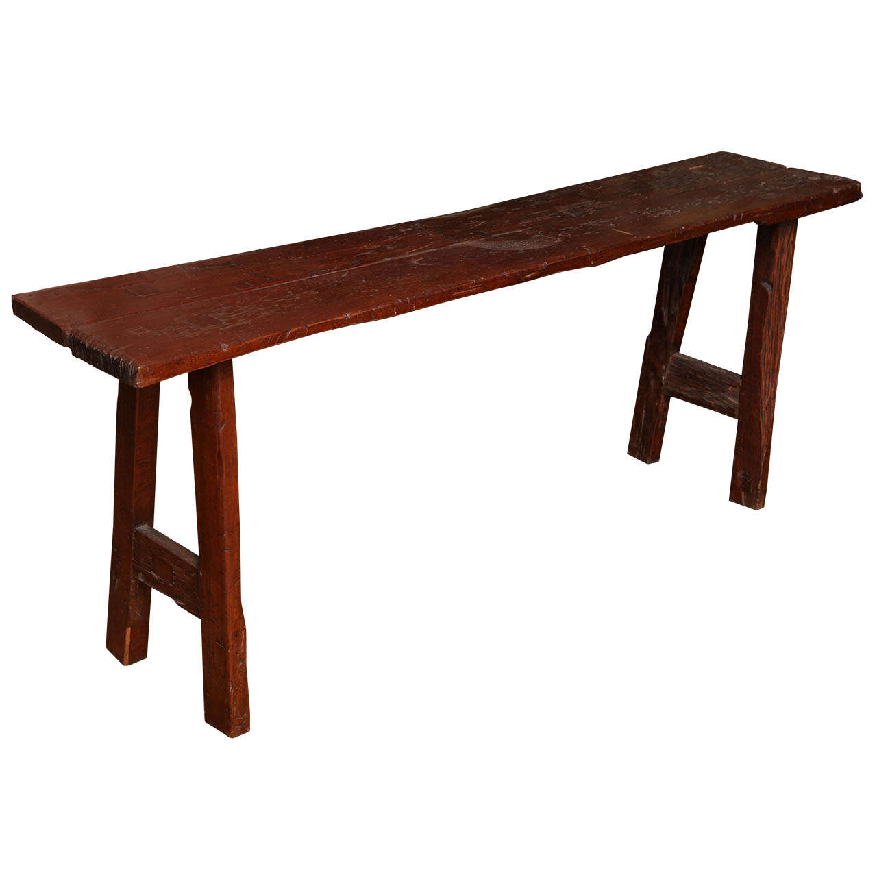 Rustic Long And Narrow Javanese Wooden Table From The 19th Century For