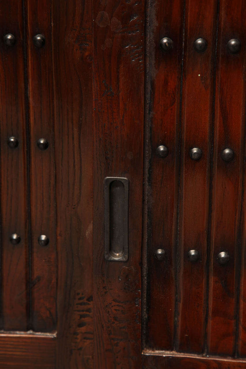 Japanese Style Elmwood Mizuya Dansu Buffet with Sliding Doors and Drawers For Sale 3