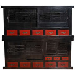Two Section Pantry Cabinet