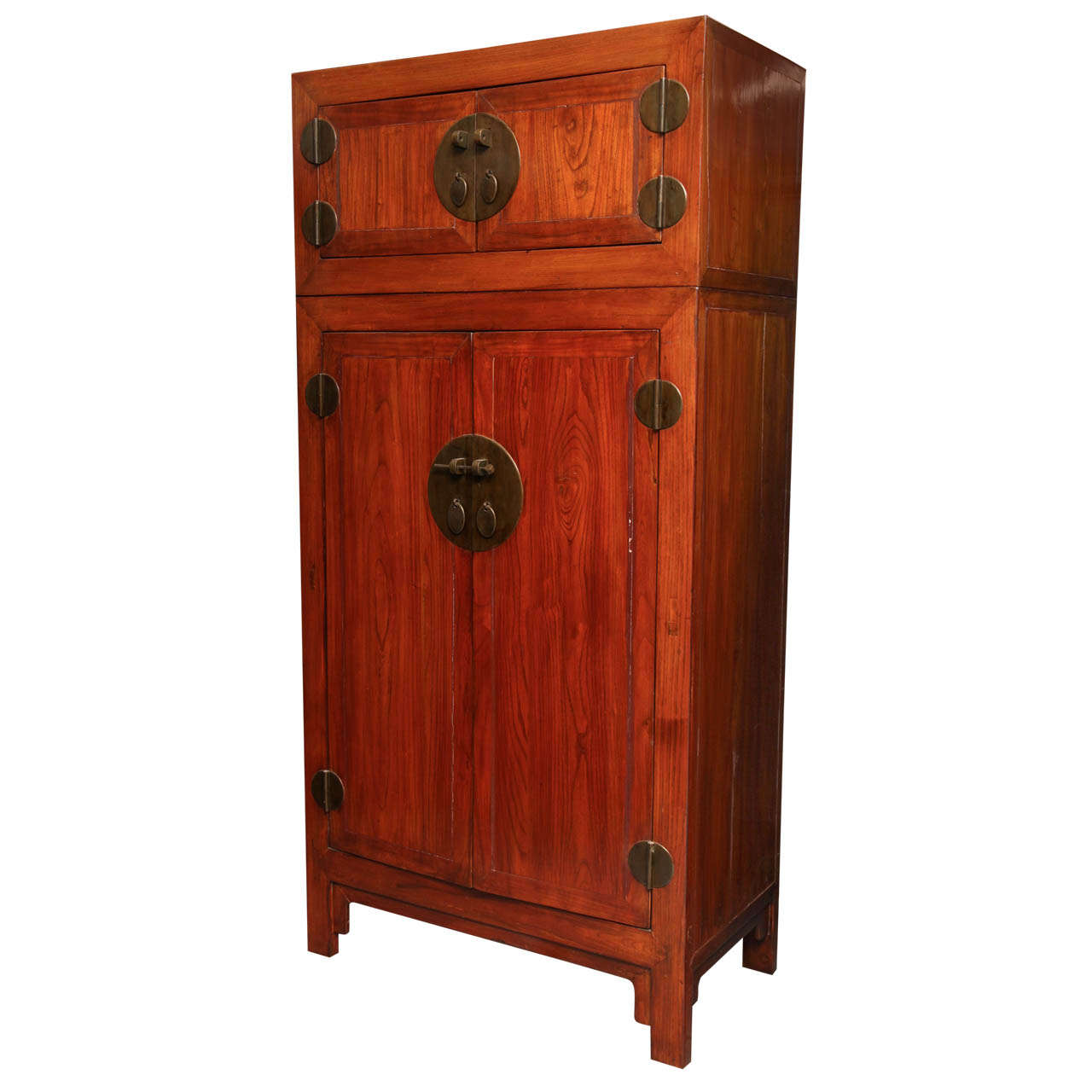 Antique Compound Cabinet with Pear Brass Hardware from China, 19th Century 1 - Antique Compound Cabinet With Pear Brass Hardware From China, 19th
