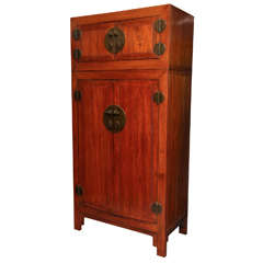 Antique Compound Cabinet with Pear Brass Hardware from China, 19th Century