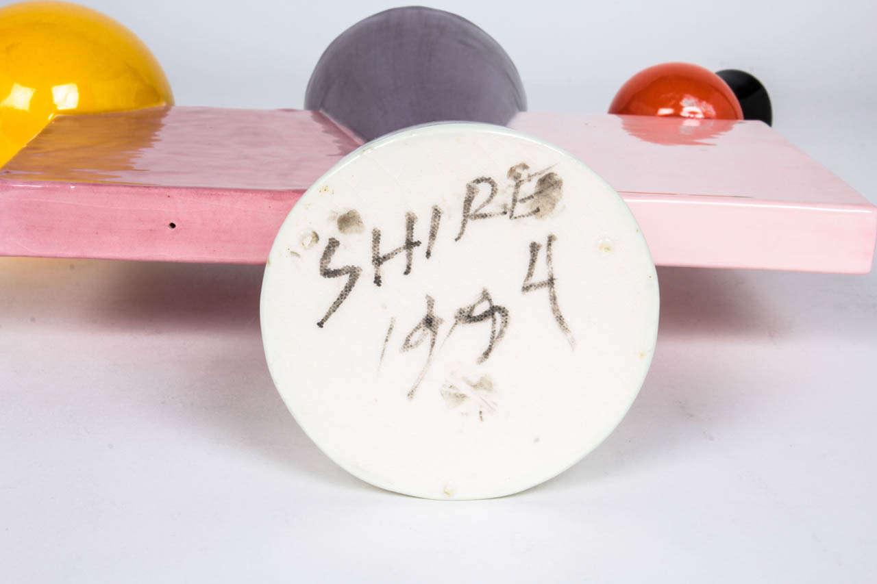 Peter Shire, Memphis Group California Art Pottery Teapot 1