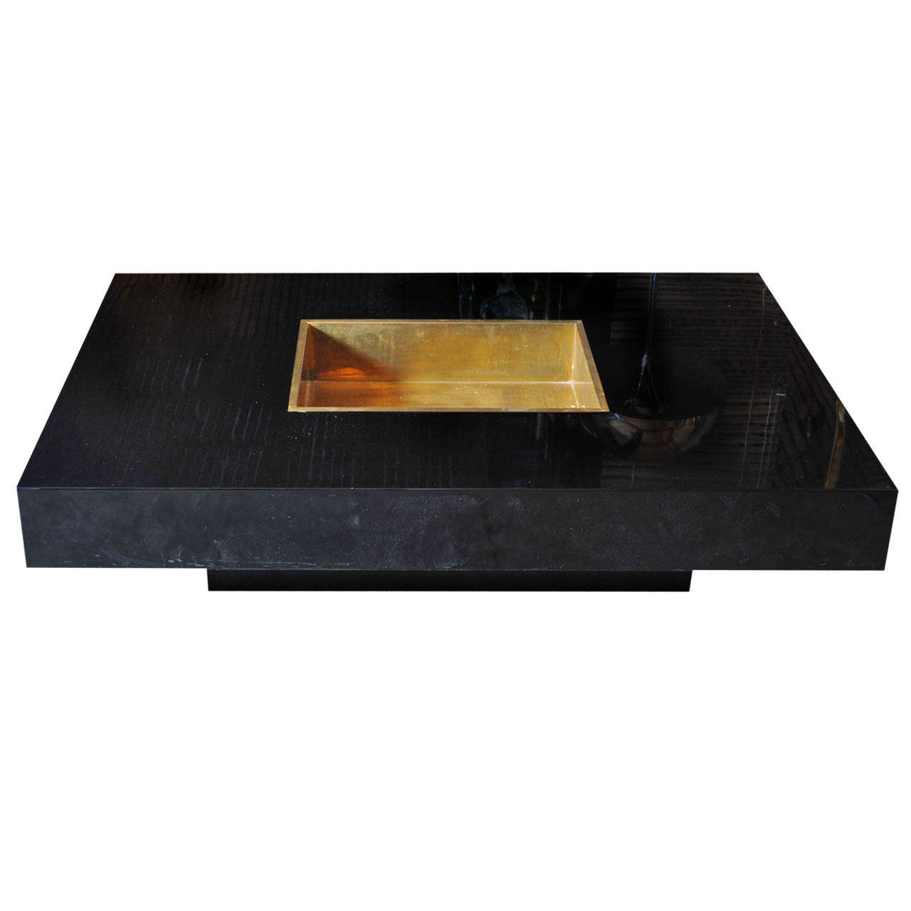 Willy Rizzo Coffeetable With Ice Cube Box At 1stdibs