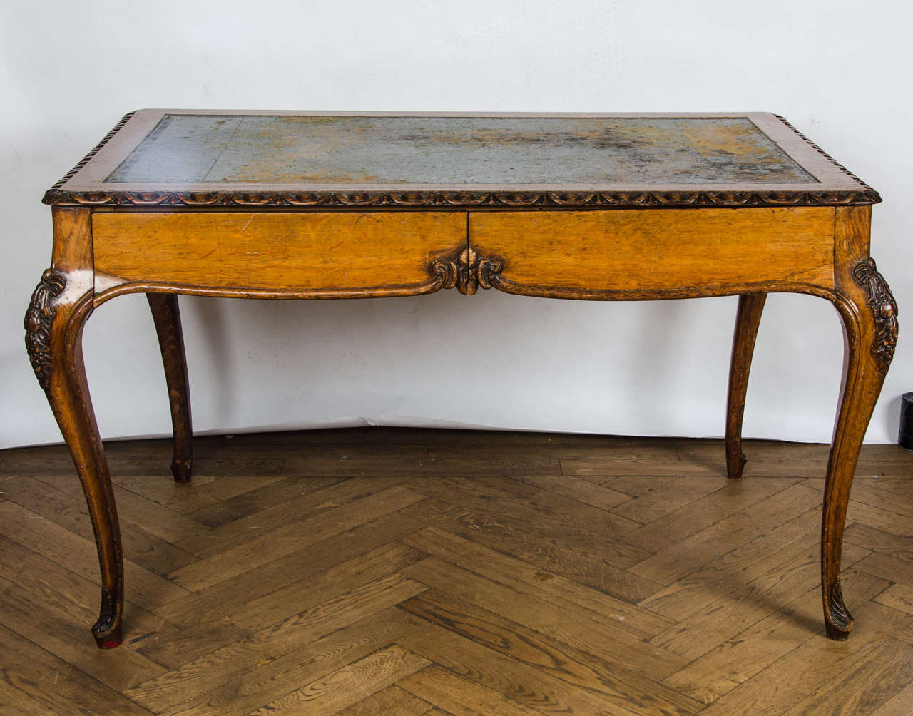 Antique Oak Louis Xv Style Writing Desk At 1stdibs