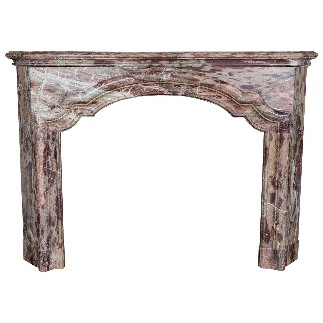 antique french sarancolin marble fireplace surround at 1stdibs. Black Bedroom Furniture Sets. Home Design Ideas
