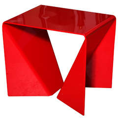 """Red Neal Small """"Origami"""" Table"""