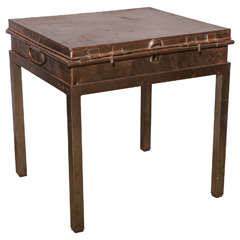 "Late 19th Century Ede & Ravenscroft Court Tailor ""Robe"" Steel Storage Box Table"