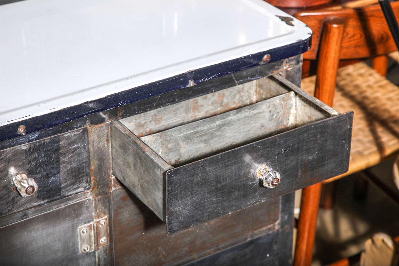 1930 39 s packer rolling metal hoosier cabinet is no longer
