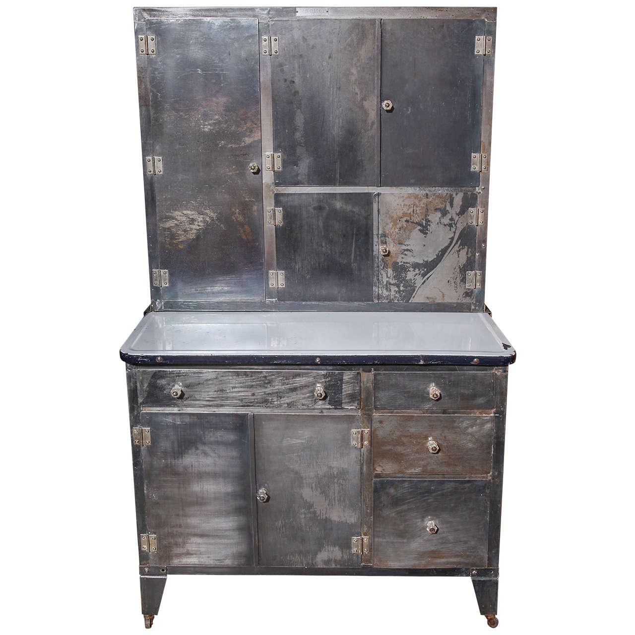 1930 39 s packer rolling metal hoosier cabinet at 1stdibs