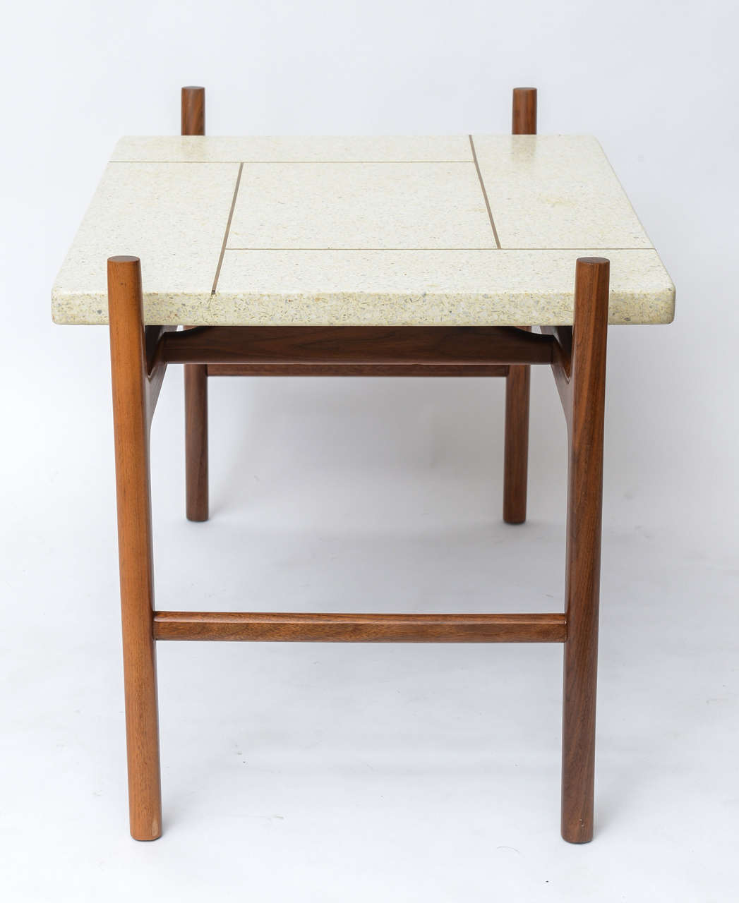 Terrazzo topped rosewood side or coffee table by harvey for Coffee tables harveys