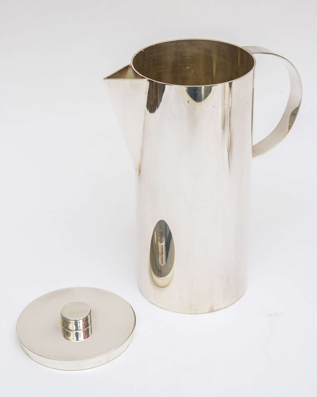 American Swid Powell for Calvin Klein Silver Plate Three-Piece Coffee Service For Sale