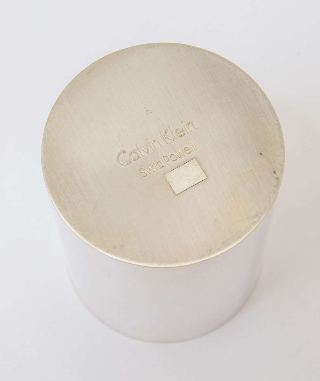 Swid Powell for Calvin Klein Silver Plate Three-Piece Coffee Service For Sale 1