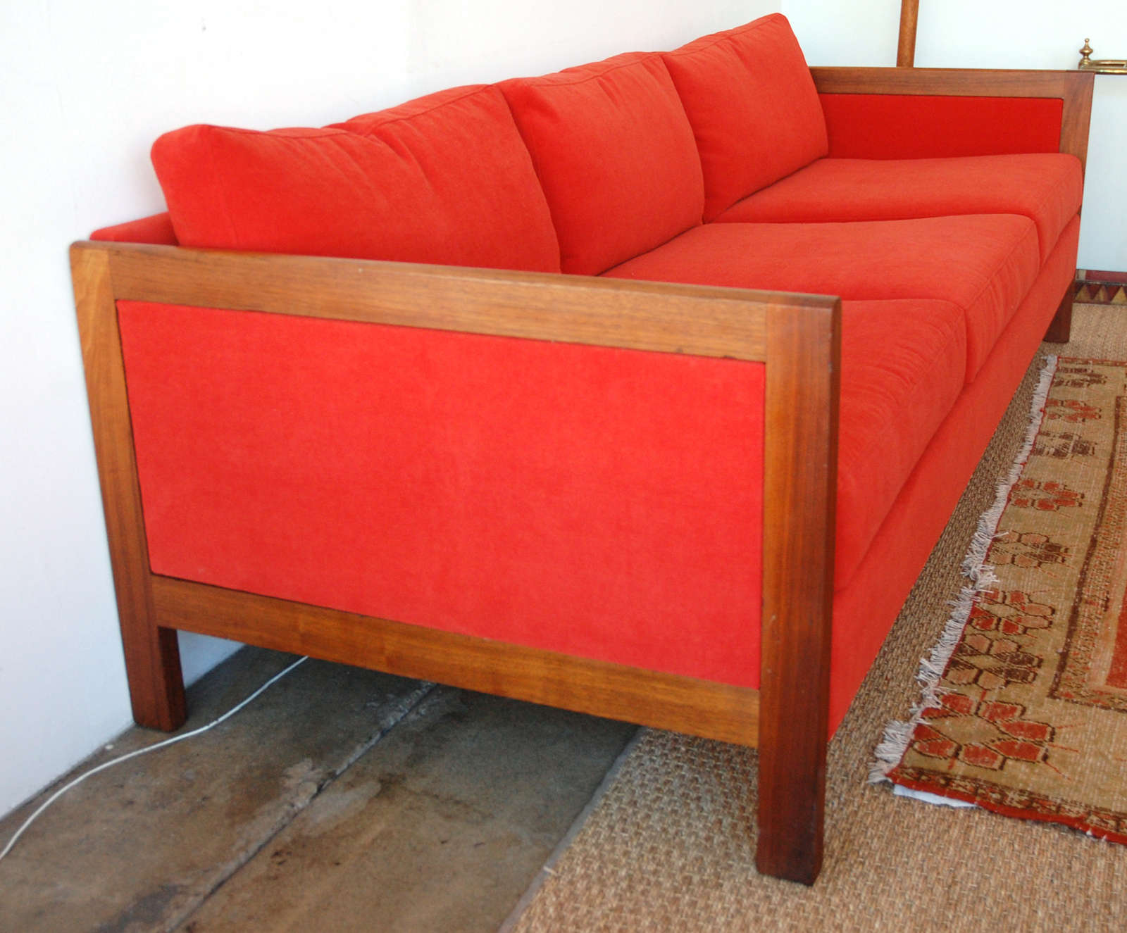 Wood Frame Sofa : Mid-Century Wood Frame Sofa image 6