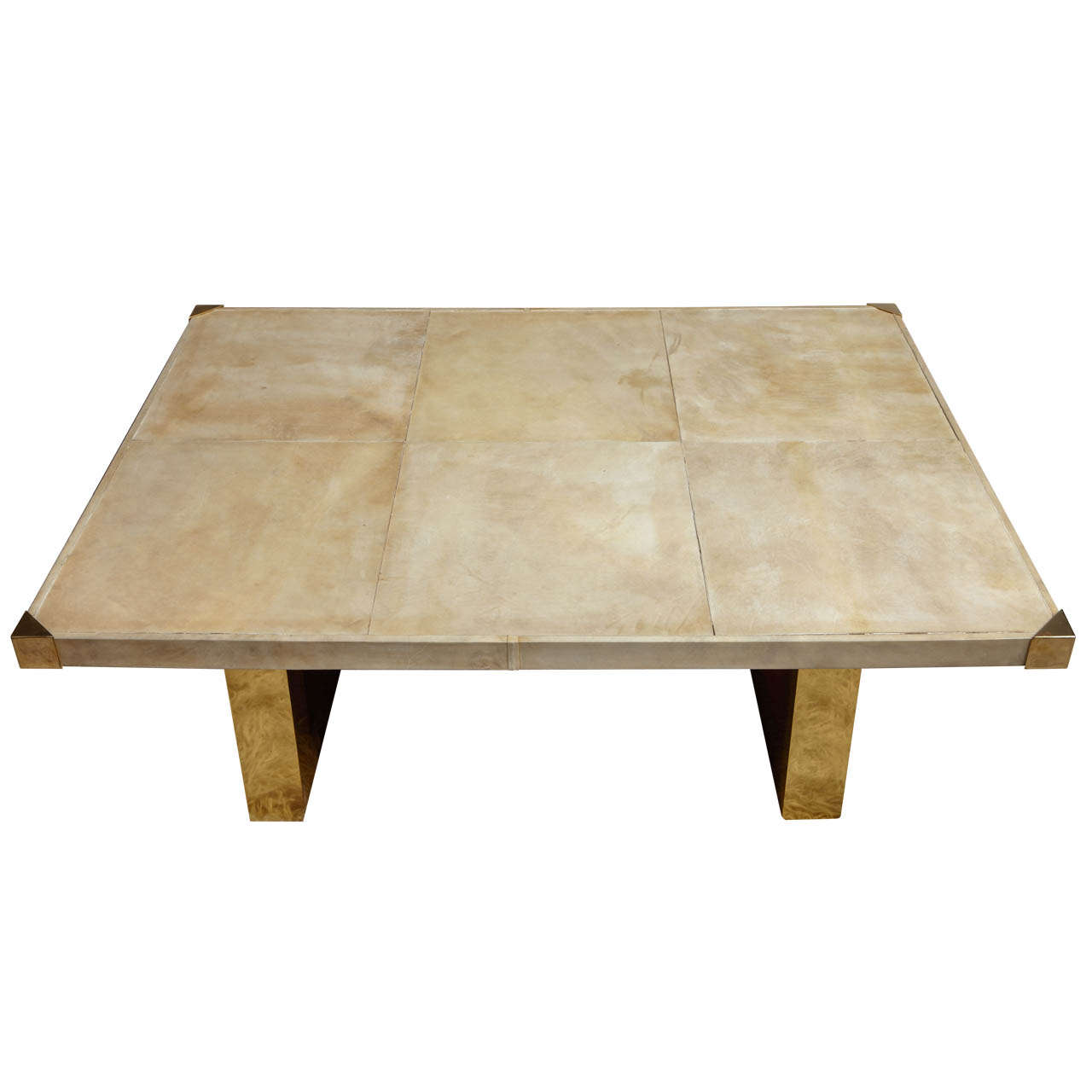 Italian 60 39 S Parchment Coffee Table At 1stdibs
