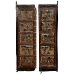 Fine and Unusual Double Leaf Indian Door