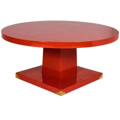 Tommi Parzinger Lacquered Coffee Table
