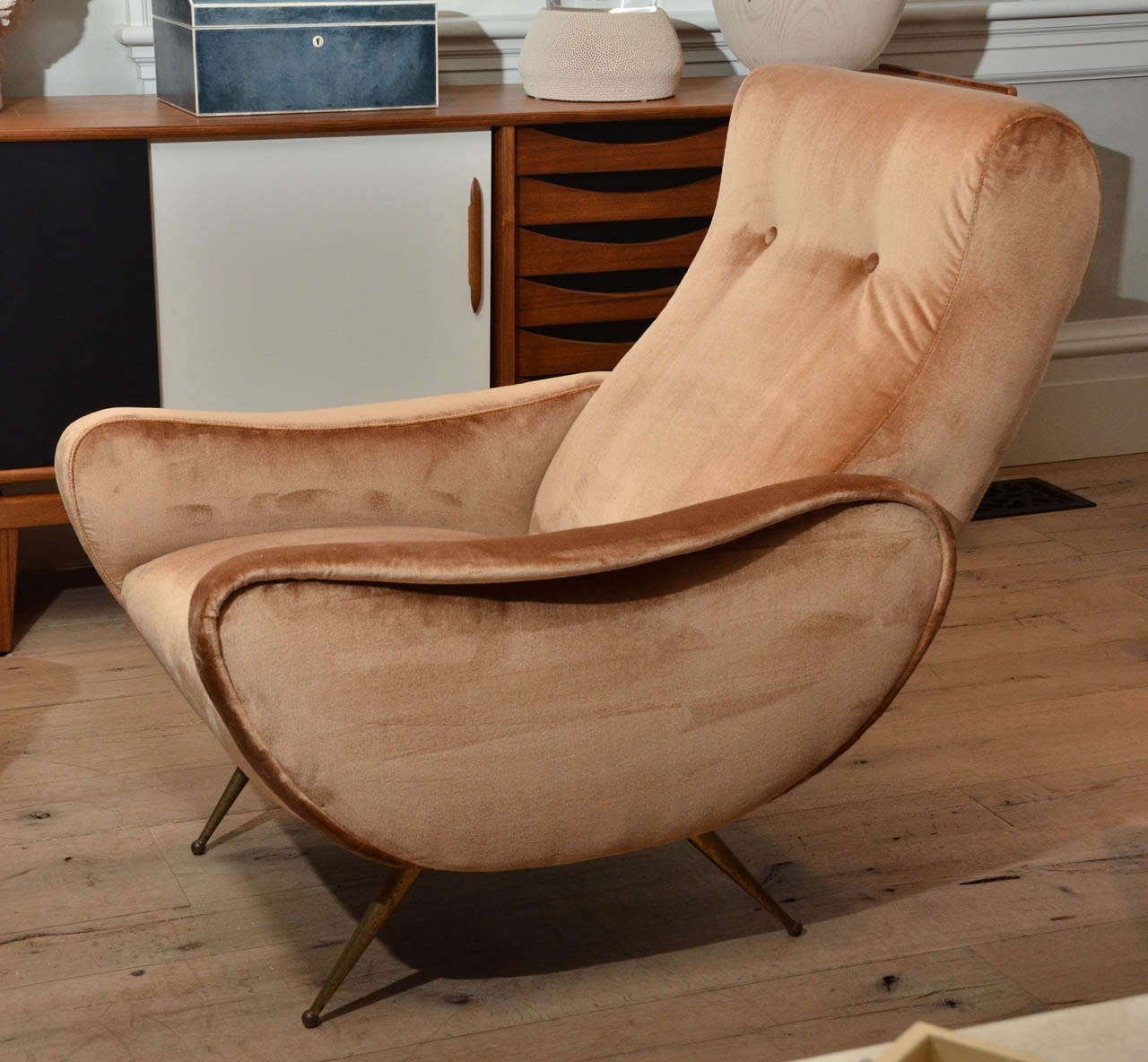 Mid-20th Century Pair of Italian Midcentury Armchairs in the Style of Marco Zanuso For Sale