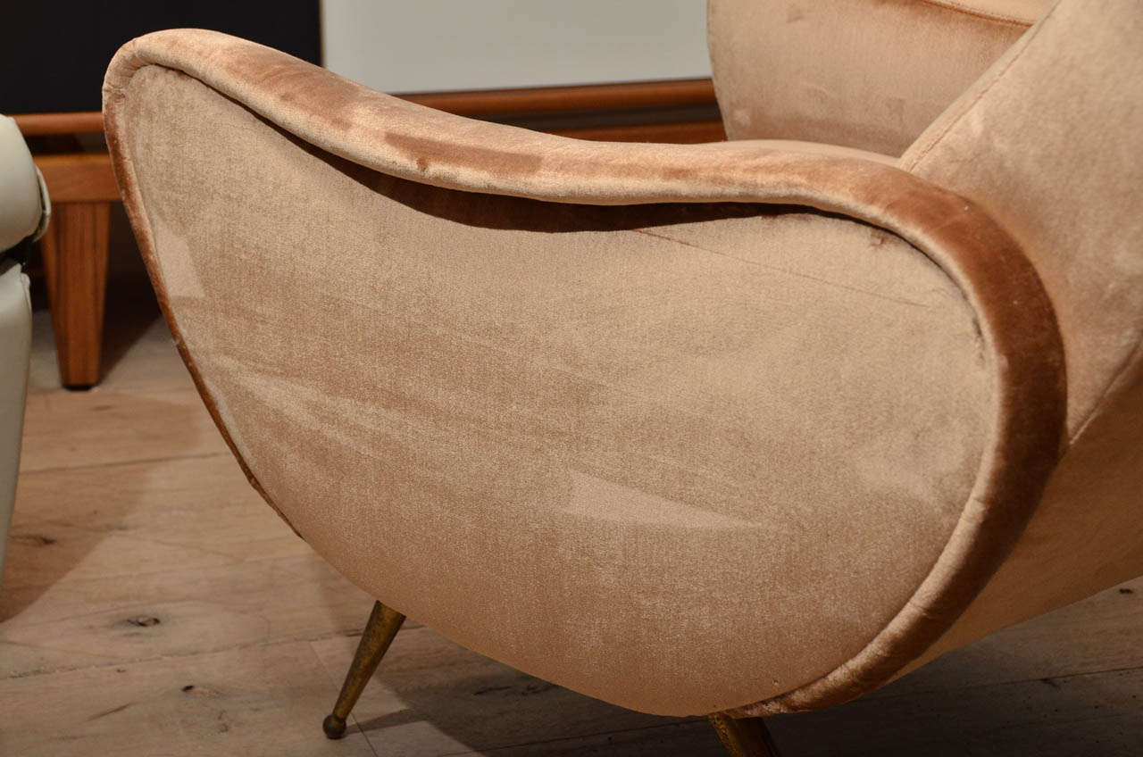 Pair of Italian Midcentury Armchairs in the Style of Marco Zanuso For Sale 2