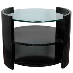 Ebonized Cerused Oak cocktail/ side table by Jay Spectre