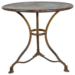 19th Century Metal Table from Arras